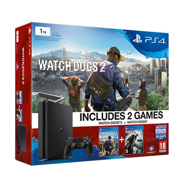 SONY Watch Dogs + Watch Dogs 2 / PS4 1 TB SLIM OYUN KONSOLU