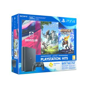 SONY Hor.Zero Dawn+ DriveClub+ Ratchet&Clank + PS4 Plus 3 Aylık PS4 500GB KONSOL