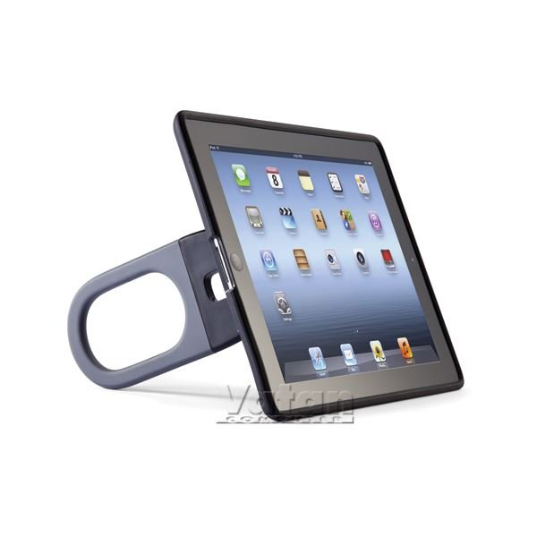 13611 HANDYSHELL THE NEW İPAD ASKILI KILIF- (GRİ)