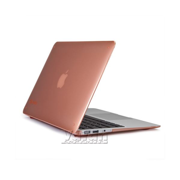 16922 SEETHRU 11'' MACBOOK AİR SERT KILIF- (SOMON PEMBE)