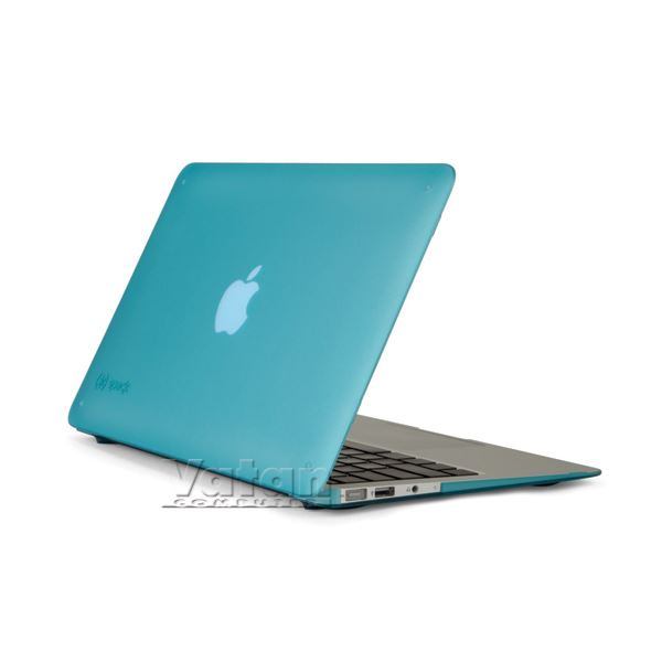 16925 SEETHRU 11'' MACBOOK AİR SATEN SERT KILIF- (TAVUSKUŞU MAVİSİ)