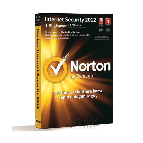 Norton Internet Security 2012 - 1 kullanıcı