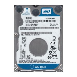 "WD 2.5"" 320GB Scorpio Blue Sata 3.0 5400Rpm 16MB Cache Notebook Disk"