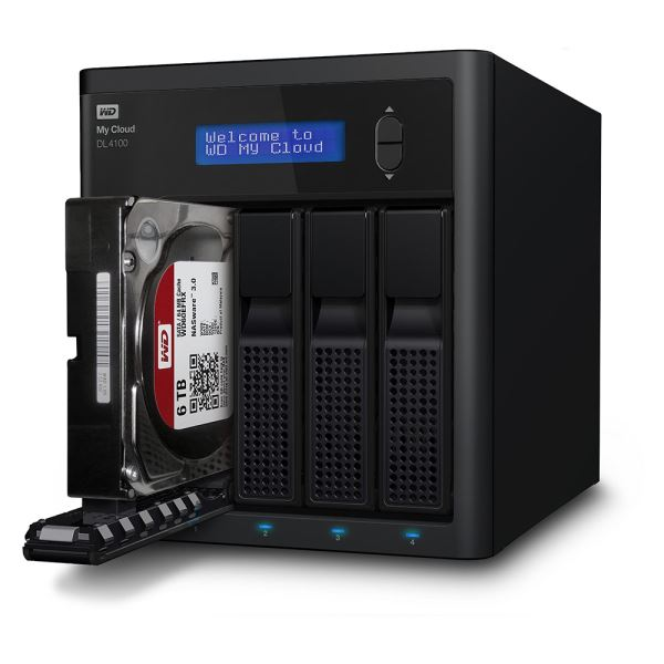 WD 4*3,5 0TB My Cloud DL4100 Gigabit Ethernet Çoklu Depolama