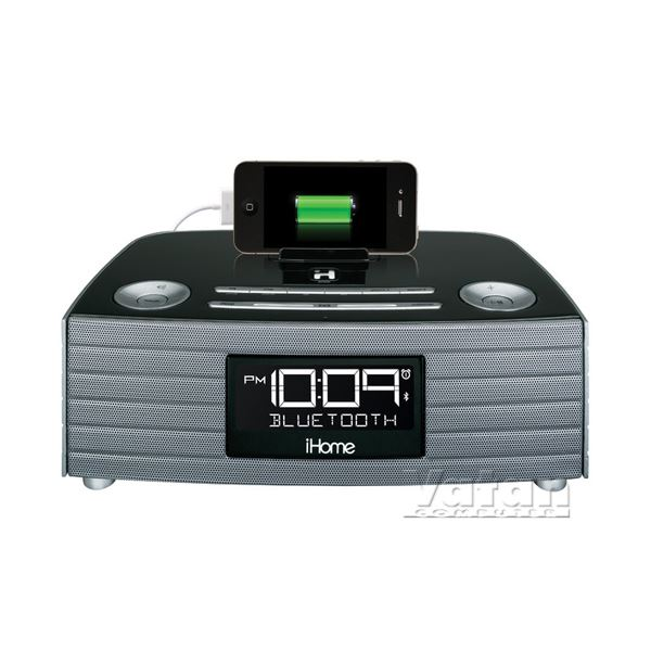 iHOME Bluetooth Radyo Speakerphone, Alarm Saat, Siyah